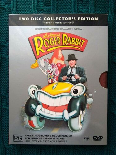 WHO FRAMED ROGER RABBIT – DVD, 2-DISC COLLECTOR'S EDITION BOX SET-R-4- LIKE NEW