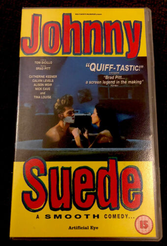 Johnny Suede VHS Brad Pitt Nick Cave Excellent Condition 90's Cult Movie