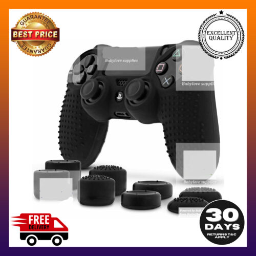 AU Fosmon PS4 Controller Skin with 8 Thumb Grips  Anti-Slip Silicone Grip Cover