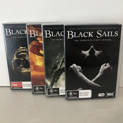Black Sails: Seasons 1-4 Collection (DVD, 2018) LIKE NEW Excellent Condition