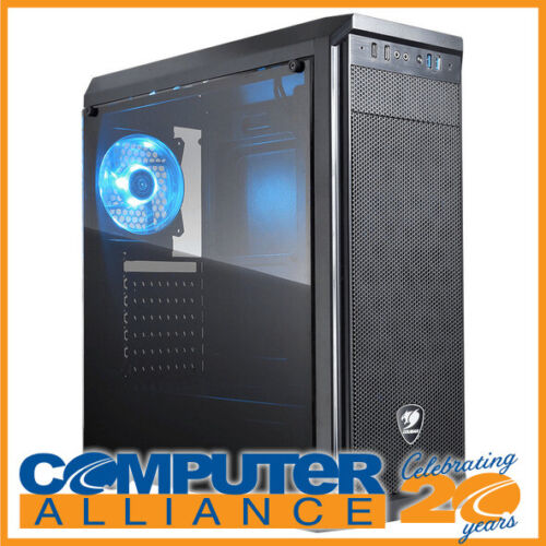 Cougar ATX MX330-S Clear Panel Case Black with Blue LED Fan