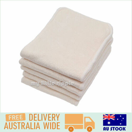 7 Bamboo Nappy Inserts / Liners for Modern Cloth Nappies