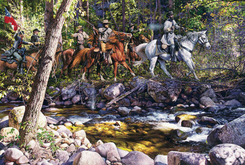 John Paul Strain's Skirmish at Tom's Brook - Signed Studio Canvas Giclée