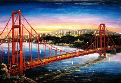 Golden Gate Bridge,  24x36, 100% Hand Painted  Oil Painting on Canvas,