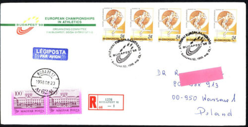 1998 HUNGARY BUDAPEST European Championships in Athletics registered letters
