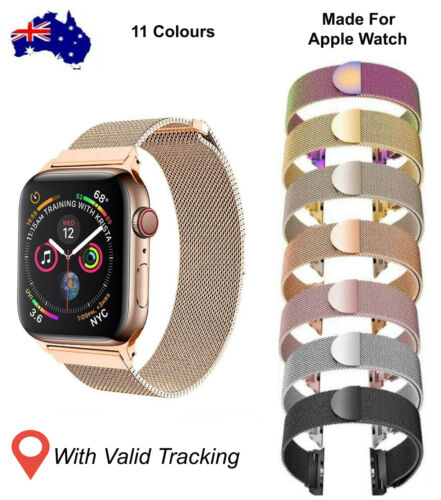 Strap for Apple Watch Milanese Loop Band Magnetic for iWatch series SE 6 5 4 3 2