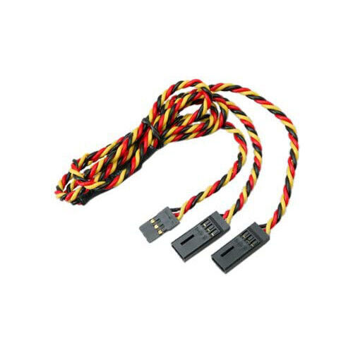 """Hitec 54704S 24"""" Hvy Gge Twisted Wire Y Lead Harness w/Pins HITEC"""