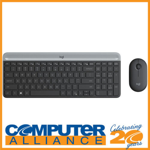 Logitech MK470 Slim Wireless Keyboard and Mouse Combo Graphite 920-009182