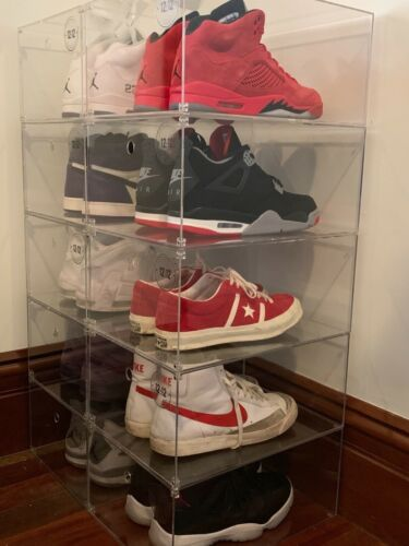 Clear SHOE BOX,A grade ACRYLIC, storing shoes, TIDY YOUR WARDROBE. Stackable....