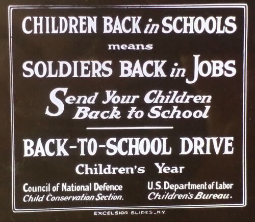 Rare Post-World War One PSA: Jobs for Soldiers, Magic Lantern Glass Slide
