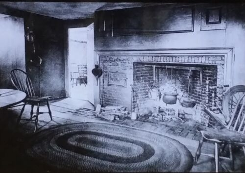 Kitchen in the Whittier House, Magic Lantern Glass Slide, from Photograph