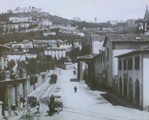 General View of Fiesole, Italy, Vintage Magic Lantern Glass Slide