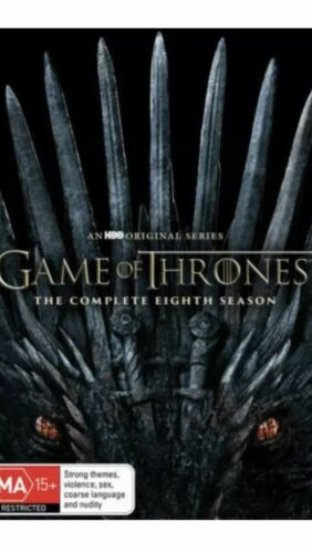Game of Thrones Season 8 Final BRAND NEW R4 DVD Australian GENUINE Release