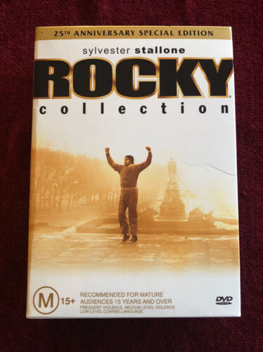 Rocky Collection 5DVD Box Set R4 Sylvester Stallone - 25th Anniversary Like New!