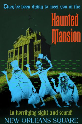 """Vintage Disney  (Haunted Mansion)11"""" X 17"""" Collector's Poster Print - B2G1F"""