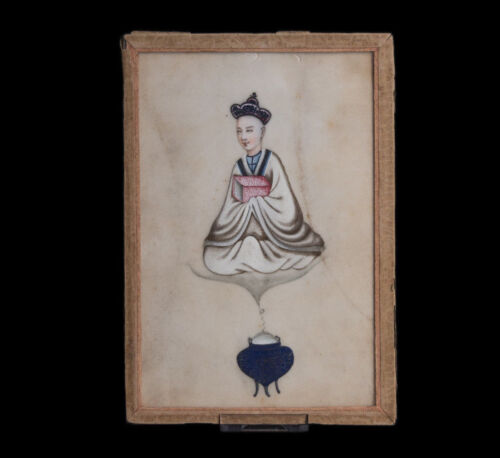 China 19. Jh Qing Painting - An Unusual Chinese' Rice Paper' Painting - Chinois
