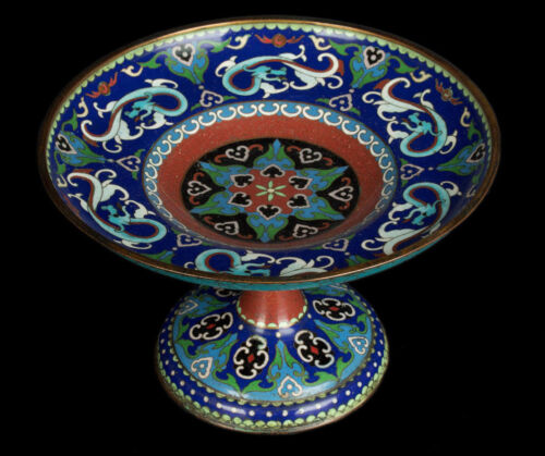 China Fr. 20. Jh Foot Bowl - A Chinese Cloisonné Enamel Tazza - Chinois Cinese