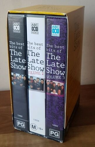 The Best Bits Of THE LATE SHOW VHS Video Tapes x 3 Box Set 90's ABC Comedy