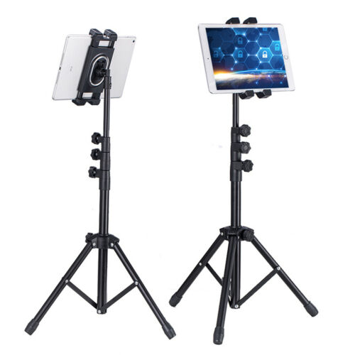 Portable Floor Tablet Tripod Stand Holder Carrying for iPad 4.7-12.9 inch Height