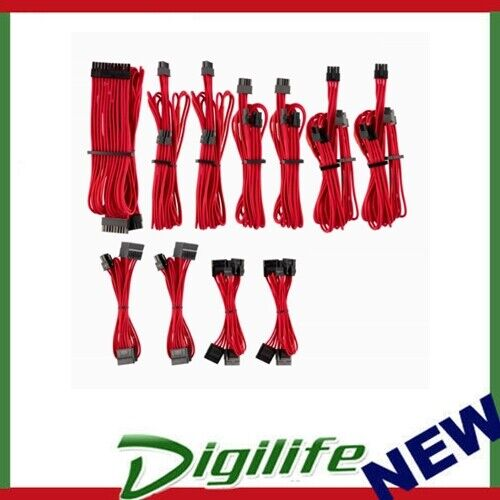 Corsair PSU - Red Premium Individually Sleeved DC Cable Pro Kit, Type 4