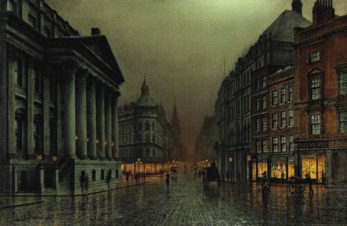 The Mansion House London Painting by Louise Hubbard Grimshaw Reproduction