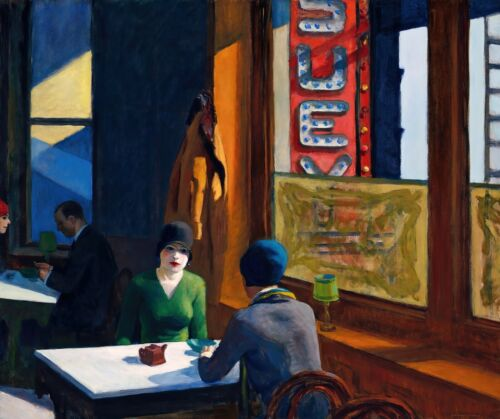 Chop Suey Painting by Edward Hopper Art Reproduction