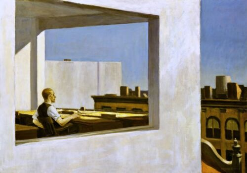 Office in a Small City Painting by Edward Hopper Art Reproduction