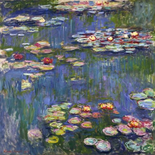 Water Lilies Painting by Claude Monet Art Reproduction