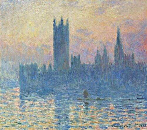 The Houses of Parliament, Sunset Painting by Claude Monet Art Reproduction