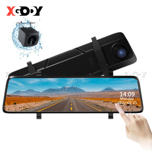 "10"" FHD 1080P Dual Lens Car DVR Dash Cam Reversing Camera Mirror Video Recorder"