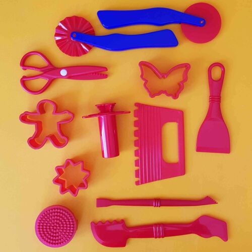 12 Red Dough Tools