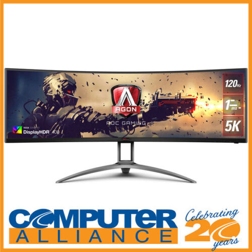 "49"" AOC AGON AG493UCX 5K Curved UltraWide FreeSync 120Hz VA Gaming Monitor With"