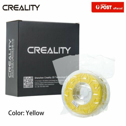 AU Creality 3D Printer Filament 1.75mm 1KG Spool PLA Yellow Fr Ender 3 Pro 5PLus