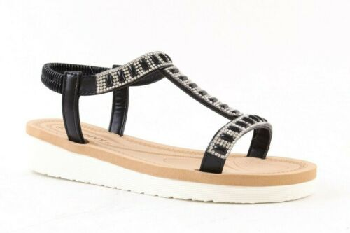 LADIES WOMENS LOW WEDGE SLING BACK COMFORT SUMMER SANDALS SHOES SIZE
