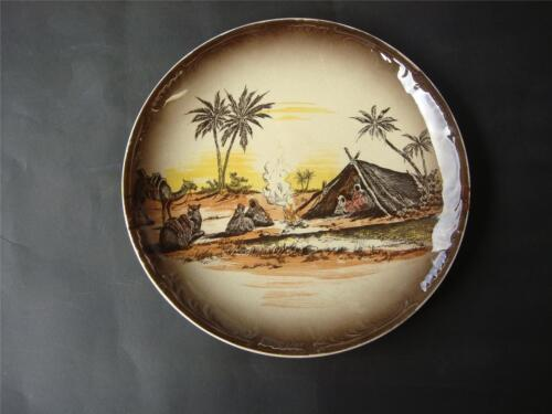 """ANTIQUE ROYAL STAFFORDSHIRE WALL  PLATE  '' HOMELAND  SERIES AFRICA """"1930's"""