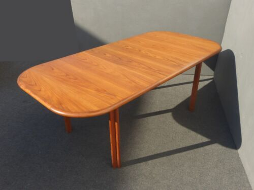 Vintage Danish Mid Century Teak Dining Room Table Conference Table Made by Lane