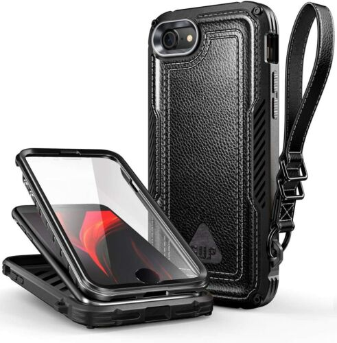 iPhone 7 8 SE 2020 Case NEW SUPCASE UBROYAL Rugged Faux Leather Cover Strap