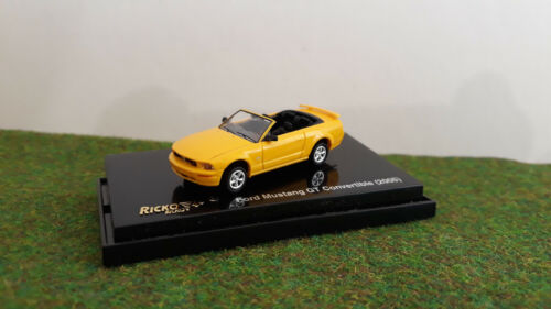 FORD MUSTANG GT CONVERTIBLE 2005 jne cabriolet HO TRAIN 1/87 RICKO 38474 voiture