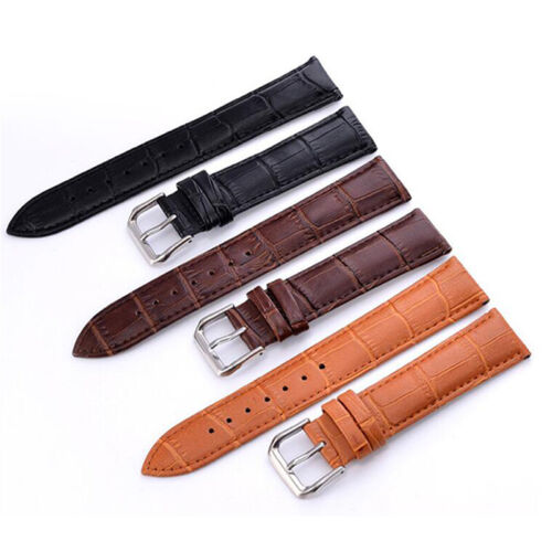 1x Replacement Leather Watch Wrist Band Strap 12mm 14mm 16mm 18mm 20mm 22mm