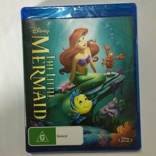 DISNEY - THE LITTLE MERMAID - BLU RAY - NEW SEALED - FREE POST