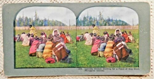 FOUR (4) VINTAGE STEREOVIEW PHOTOGRAPHS - PHILIPPINES