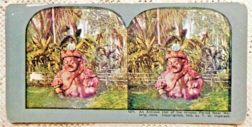 FOUR (4) VINTAGE STEREOVIEW PHOTOGRAPHS - JAVA