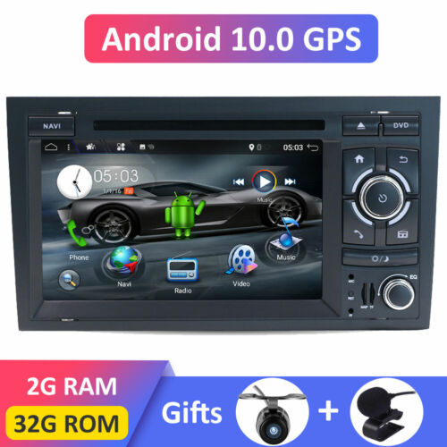 Android 10 Head Unit Auto GPS DVD Navi DAB AUX For Audi A4 S4 RS4 RNS-ESeat Exeo