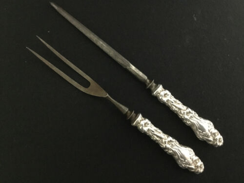 WHITING ~  LILY 2 PC. HOLLOW HANDLE CARVING SET - $45
