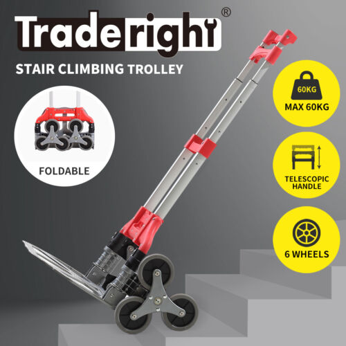 Traderight  Stair Climbing Trolley Climb Portable Folding Luggage Cart Goods