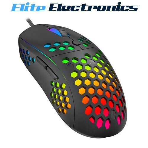 Havit MS878 RGB Backlit Light Durable Honeycomb 10000 DPI Gaming Mouse
