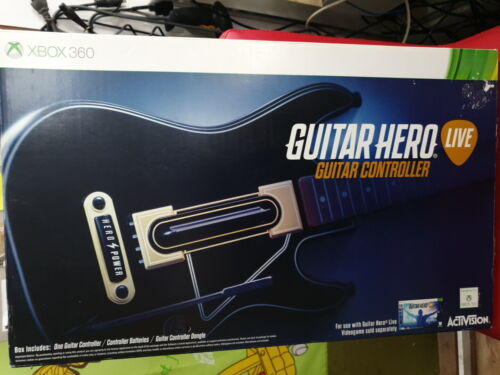 XBOX 360 GUITAR HERO LIVE GUITAR CONTROLLER with USB dongle (NEW in BOX)