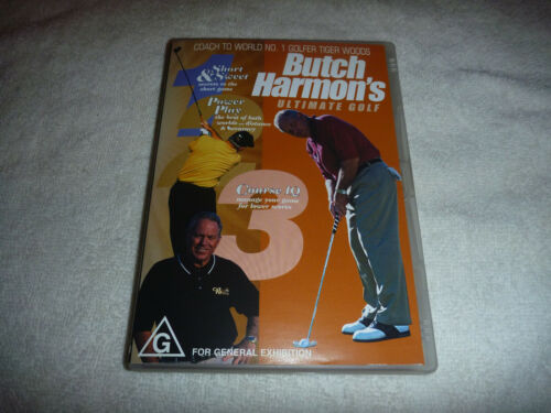 Butch Harmon's Ultimate Golf - Instructional - Tiger Woods - VGC - DVD - R4