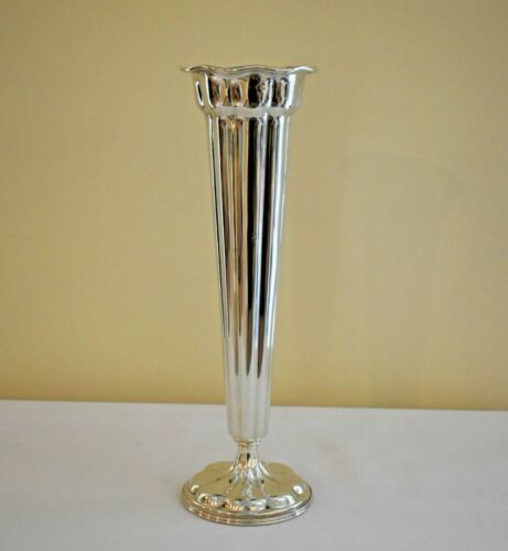 """TALL 14"""" Whiting Manf. Co STERLING Silver Trumpet VASE"""