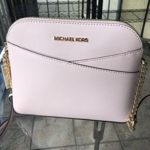 Michael Kors Women Leather Crossbody Handbag Bag Purse Shoulder Messenger Pink